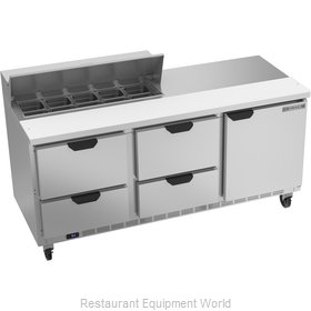 Beverage Air SPED72HC-10-4 Refrigerated Counter, Sandwich / Salad Top