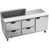 Mesa Refrigerada de Preparación de Emparedados <br><span class=fgrey12>(Beverage Air SPED72HC-10-4 Refrigerated Counter, Sandwich / Salad Top)</span>