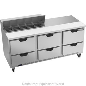 Beverage Air SPED72HC-10-6 Refrigerated Counter, Sandwich / Salad Top