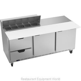 Beverage Air SPED72HC-10C-2 Refrigerated Counter, Sandwich / Salad Top