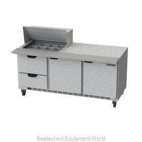 Beverage Air SPED72HC-12M-2 Refrigerated Counter, Mega Top Sandwich / Salad Unit