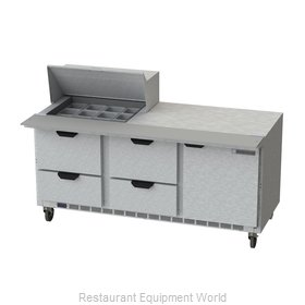 Beverage Air SPED72HC-12M-4 Refrigerated Counter, Mega Top Sandwich / Salad Unit