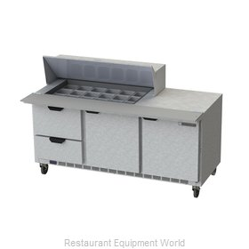 Beverage Air SPED72HC-18M-2 Refrigerated Counter, Mega Top Sandwich / Salad Unit