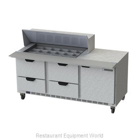 Beverage Air SPED72HC-18M-4 Refrigerated Counter, Mega Top Sandwich / Salad Unit