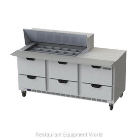 Beverage Air SPED72HC-18M-6 Refrigerated Counter, Mega Top Sandwich / Salad Unit