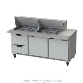 Beverage Air SPED72HC-24M-2 Refrigerated Counter, Mega Top Sandwich / Salad Unit