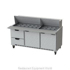Beverage Air SPED72HC-30M-2 Refrigerated Counter, Mega Top Sandwich / Salad Unit