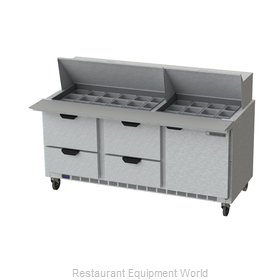 Beverage Air SPED72HC-30M-4 Refrigerated Counter, Mega Top Sandwich / Salad Unit