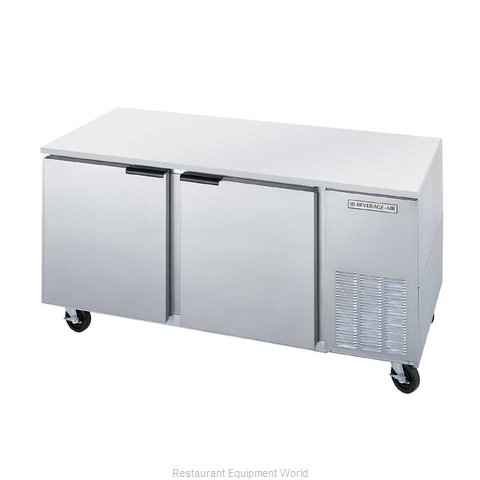 Beverage Air UCF67A Reach-In Undercounter Freezer 2 section
