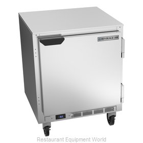 Beverage Air UCR27HC Refrigerator, Undercounter, Reach-In