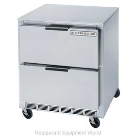 Beverage Air UCRD27A-2 Refrigerator, Undercounter, Reach-In
