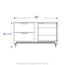 Beverage Air UCRD60A-2 Refrigerator Undercounter Reach-In