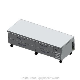 Beverage Air WTFCS84-1 Freezer Counter, Griddle Stand