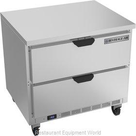 Beverage Air WTFD36AHC-2-FLT Freezer Counter, Work Top