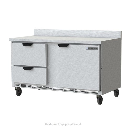 Beverage Air WTFD60AHC-2-FIP Freezer Counter, Work Top
