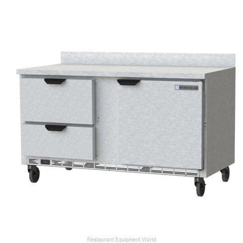 Beverage Air WTFD60AHC-2 Freezer Counter, Work Top