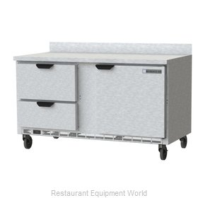 Beverage Air WTFD60AHC-2 Freezer Counter, Work Top