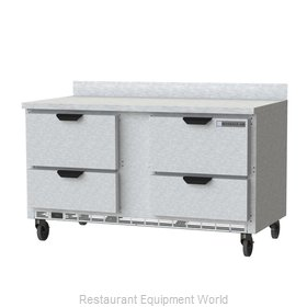 Beverage Air WTFD60AHC-4 Freezer Counter, Work Top