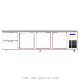 Beverage Air WTRD119A-2 Refrigerated Counter Work Top