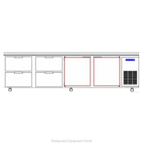Beverage Air WTRD119A-4 Refrigerated Counter Work Top