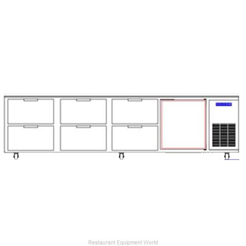 Beverage Air WTRD119A-6 Refrigerated Counter, Work Top