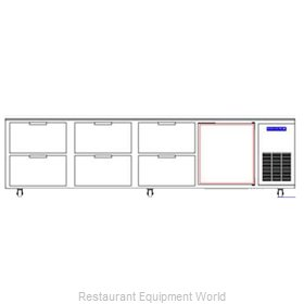 Beverage Air WTRD119A-6 Refrigerated Counter Work Top