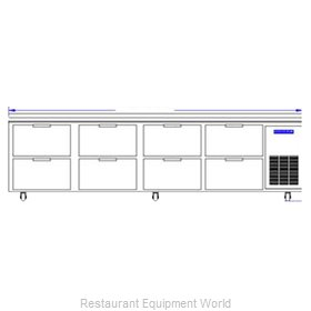 Beverage Air WTRD119A-8 Refrigerated Counter Work Top