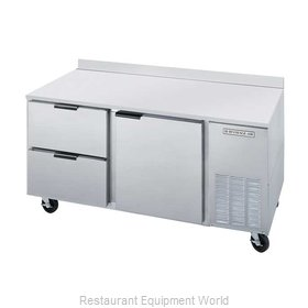 Beverage Air WTRD67A-2 Refrigerated Counter, Work Top