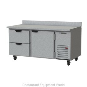 Beverage Air WTRD67AHC-2 Refrigerated Counter, Work Top