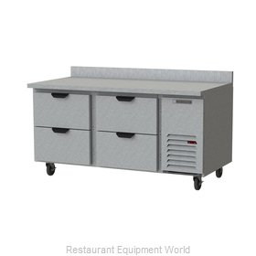 Beverage Air WTRD67AHC-4 Refrigerated Counter, Work Top