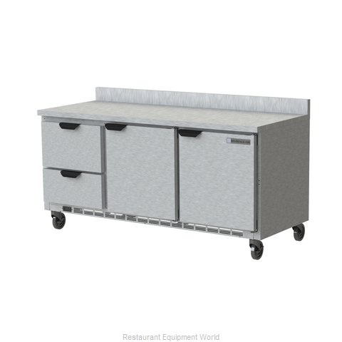 Beverage Air WTRD72AHC-2-FIP Refrigerated Counter, Work Top