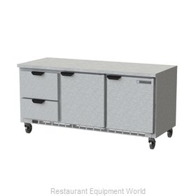 Beverage Air WTRD72AHC-2-FLT Refrigerated Counter, Work Top