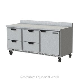 Beverage Air WTRD72AHC-4-FIP Refrigerated Counter, Work Top