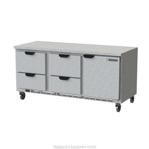 Beverage Air WTRD72AHC-4-FLT Refrigerated Counter, Work Top