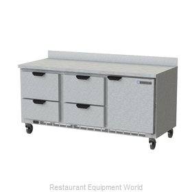 Beverage Air WTRD72AHC-4 Refrigerated Counter, Work Top