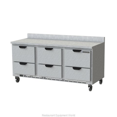 Beverage Air WTRD72AHC-6-FIP Refrigerated Counter, Work Top