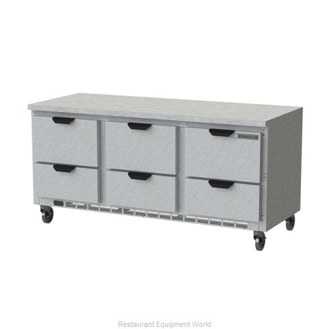 Beverage Air WTRD72AHC-6-FLT Refrigerated Counter, Work Top