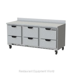 Beverage Air WTRD72AHC-6 Refrigerated Counter, Work Top