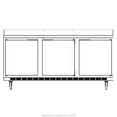 Beverage Air WTRD72AY-2 Refrigerated Counter Work Top