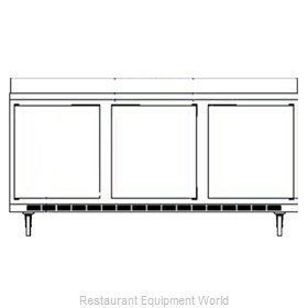 Beverage Air WTRD72AY-4 Refrigerated Counter Work Top