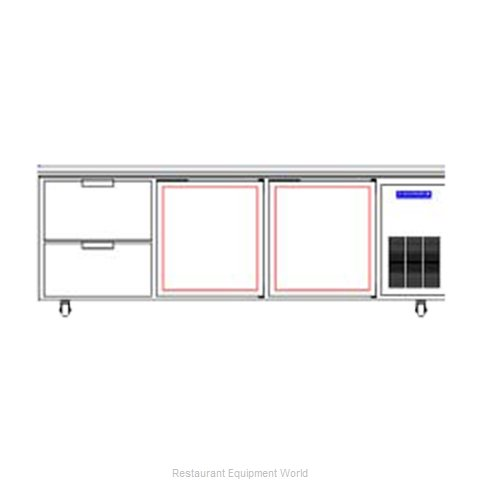 Beverage Air WTRD93A-2 Refrigerated Counter Work Top