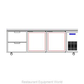 Beverage Air WTRD93A-2 Refrigerated Counter, Work Top