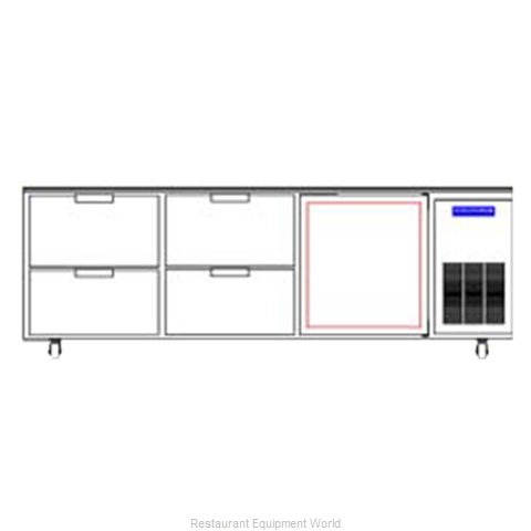 Beverage Air WTRD93A-4 Refrigerated Counter, Work Top
