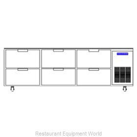 Beverage Air WTRD93A-6 Refrigerated Counter Work Top