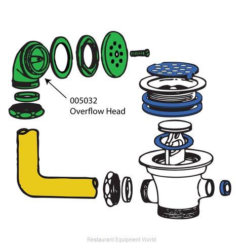 BK Resources 005032 Drain, Lever / Twist Waste, Parts