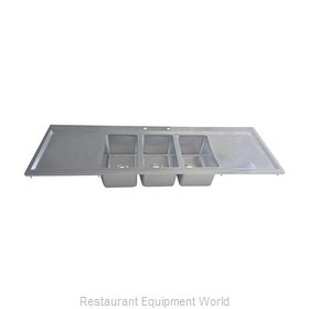 BK Resources BK-DIS-1014-3-18T-PG Sink, Drop-In