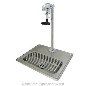 BK Resources BK-WS-1SGF-G Glass Filler Station with Drain Pan
