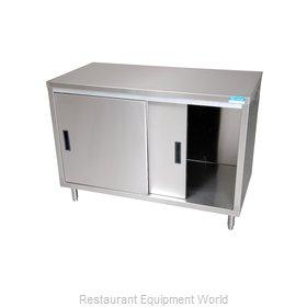 BK Resources BKDC-2436S Work Table, Cabinet Base Sliding Doors