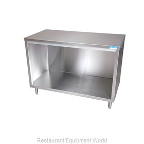 BK Resources BKDC-3660 Work Table, Cabinet Base Open Front