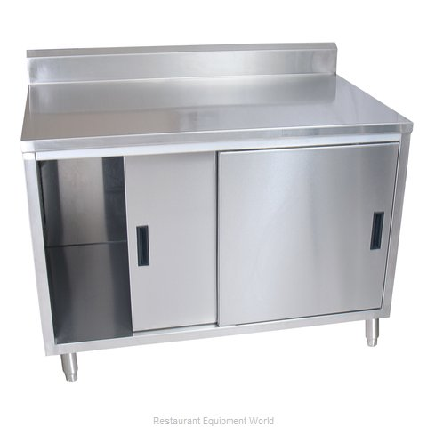 BK Resources BKDCR5-2436S Work Table, Cabinet Base Sliding Doors